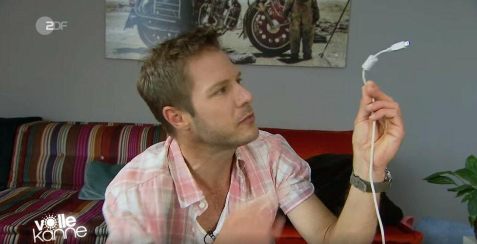 ZDF | Besserwisser | Zylinder am Kabel